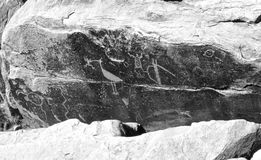 Петроглифы Стоковое фото RF