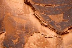 Петроглиф антилопы Стоковая Фотография RF