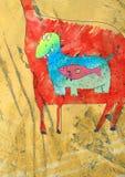 петроглиф развития Стоковое Изображение