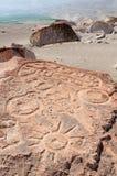 Петроглифы Южной Америки, Перу, Toro Muerto Стоковые Изображения
