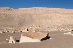 Петроглифы Южной Америки, Перу, Toro Muerto Стоковая Фотография