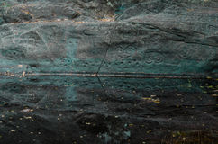 Петроглиф Taino около воды Стоковое фото RF