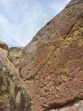 Петроглиф Tsankawe Неш-Мексико коренного американца спиральный Стоковое Изображение RF