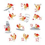 Петухи и курицы спорта Стоковое Изображение RF