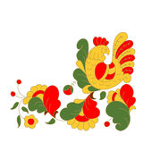 Петух, иллюстрация вектора шаржа портрета крана Элемент дизайна карточки праздника С Рождеством Христовым, счастливая карта памят Стоковое Изображение
