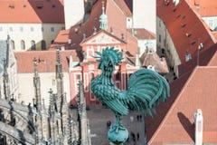 Петух - один из символов Праги. Стоковое Фото
