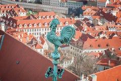 Петух - один из символов Праги. Стоковая Фотография RF