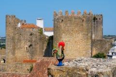 Петух Barcelos obidos Португалия Стоковые Фотографии RF