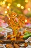 Петушок lollypop сахара на ручке стоковая фотография rf