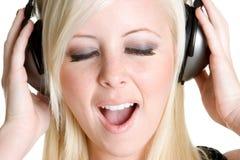 петь девушки подростковый стоковая фотография