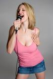 петь девушки предназначенный для подростков Стоковая Фотография RF