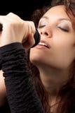 петь нежо женщине Стоковые Изображения RF
