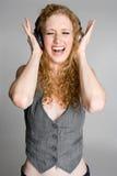 петь нот девушки Стоковое Фото