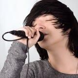 петь певицы утеса нот микрофона принципиальной схемы стоковые фотографии rf