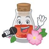 Петь поднял масло семени форма мультфильма иллюстрация штока