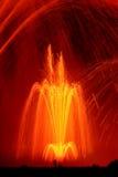 петь померанца фонтанов Стоковое Фото