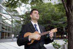 петь человека Стоковая Фотография
