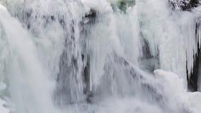 Петля водопада зимы сток-видео