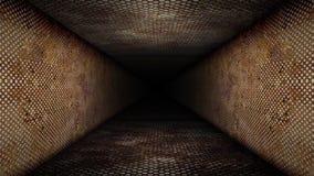 Петля коридора металла иллюстрация вектора