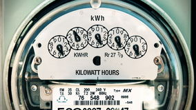 Петля метра электричества (промежутка времени) акции видеоматериалы