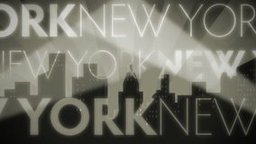 Петля Нью-Йорка Noir ретро сток-видео
