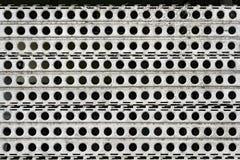 Пефорированная загородка металла стоковые фотографии rf