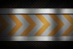 Пефорированная решетка сетки металла с отполированным металлическим листом с yel Стоковые Изображения