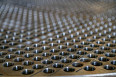 пефорированная сталь Стоковое Фото