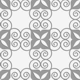 Пефорированная swirly решетка с 4 фольгами бесплатная иллюстрация