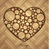 Пефорированное сердце Стоковое Изображение RF