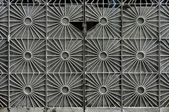 Пефорированный дизайн строба металла стоковое изображение rf