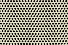 Пефорированный лист перед черной предпосылкой Стоковые Фотографии RF