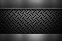 Пефорированный металлический лист с отполированными металлическими пластинами Стоковая Фотография RF