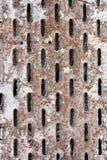 Пефорированный ржавый металл Стоковое Изображение RF