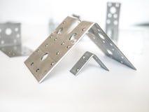 2 пефорированных сталью крепежной детали угла Стоковая Фотография RF