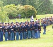 пехота образования выравнивает соединение просмотрения Стоковые Изображения