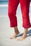 пец ноги красного цвета кальсон ногтей Стоковые Изображения