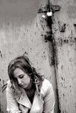 печаль девушки Стоковое Изображение