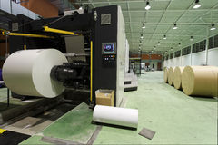печатание газеты дома стоковая фотография