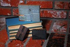 печатание давления книг блоков старое Стоковое Изображение RF