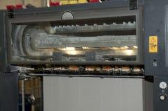 печатание давления машины смещенное стоковая фотография rf