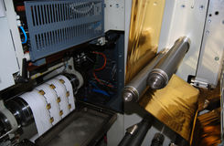 печатание давления flexo uv стоковые изображения rf