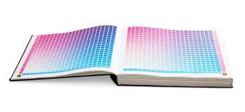 печатание направляющего выступа цвета cmyk книги Стоковое Изображение