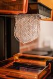 Печатание смолы 3D, строение SLA стоковое фото rf