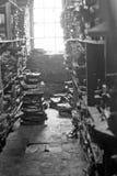 Печатание ткани деревянного блока Стоковые Фотографии RF