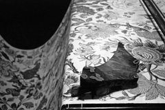 Печатание ткани деревянного блока Стоковая Фотография