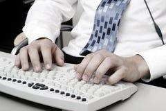 печатать на машинке клавиатуры компьютера Стоковое фото RF