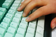 печатать на машинке клавиатуры компьютера Стоковые Изображения