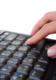 печатать на машинке клавиатуры компьютера Стоковая Фотография