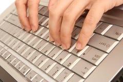 печатать на машинке Стоковые Фотографии RF